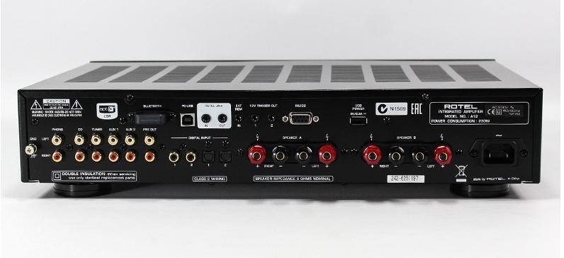 Amplificateur Rotel A12 - vue arrière