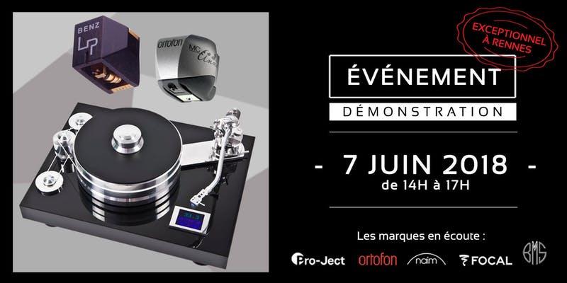Invitation évènement dans l'auditorium Hi-Fi Rennes